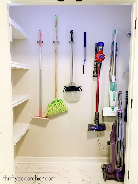 organized mud room closet