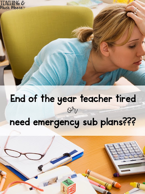 End of the year or sub plans activities