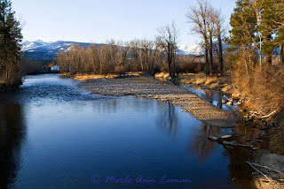 Photos of upper Bitterroot River, Jan 27, 2012