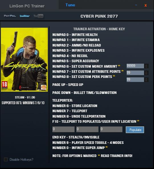 Cyberpunk 2077: Trainer (+17) [1.0.6]
