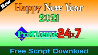 Happy New Year 2021 Advanced Blogger Script Free Download
