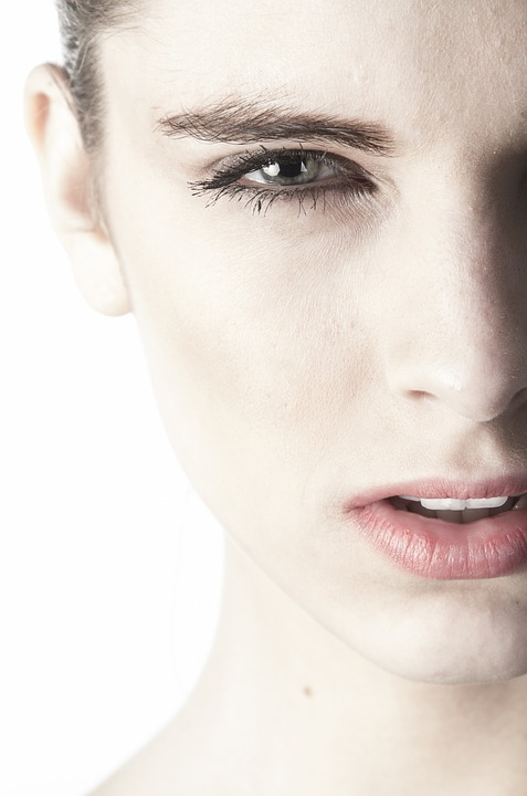 woman's face with pretty skin