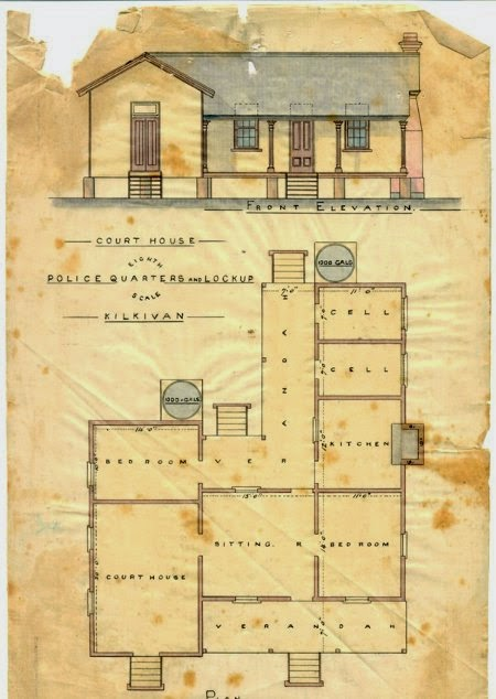 Plan of Police Station, Kilkivan, 1884 (Qld Police Museum).