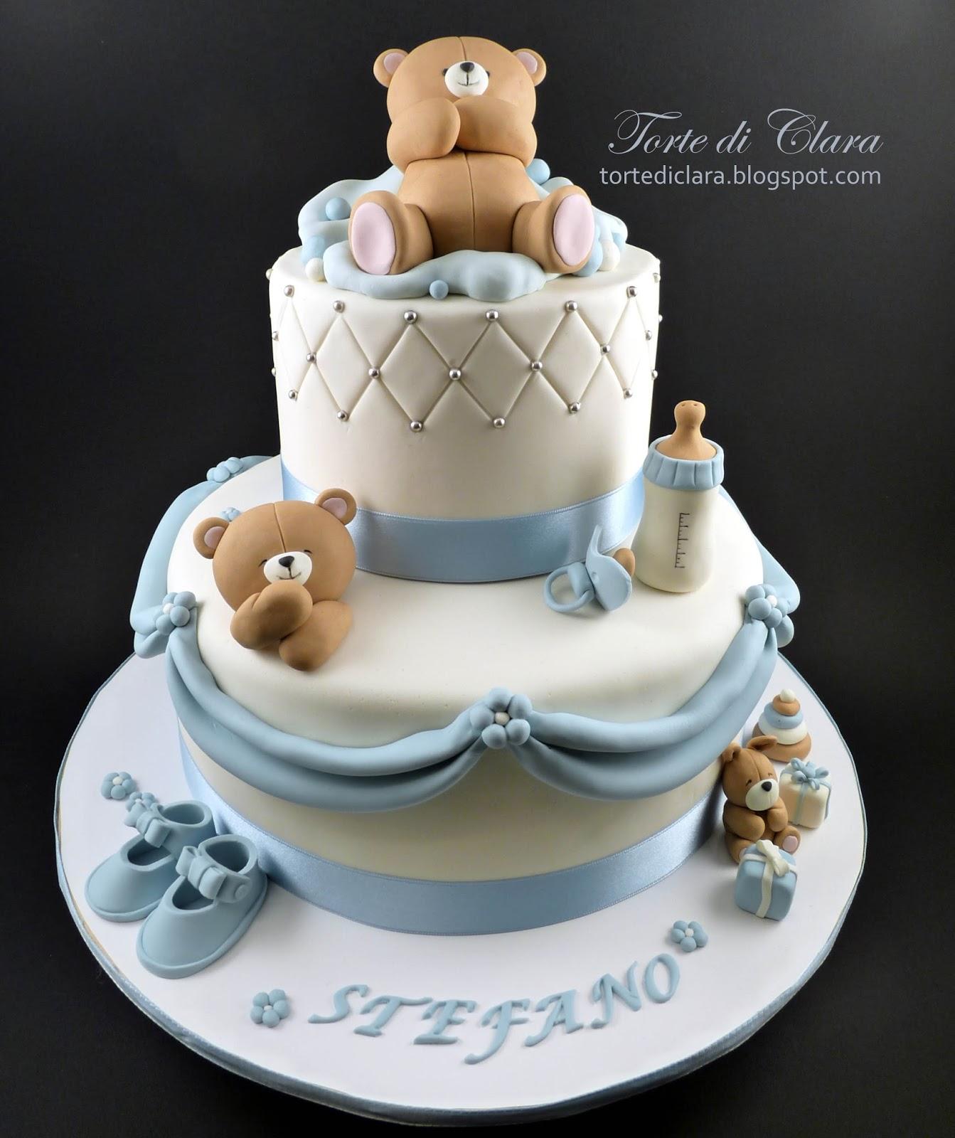 Estremamente Torte di Clara: Torta Battesimo (10) BE91