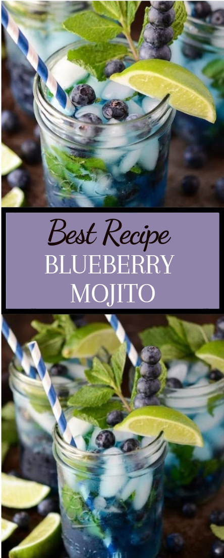 BLUEBERRY MOJITO #healthydrink #easyrecipe