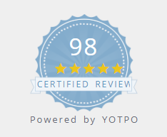 current 98 star review badge for dragons head shop