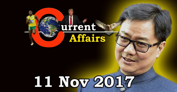 Kerala PSC - Daily Current Affairs 11/11/2017