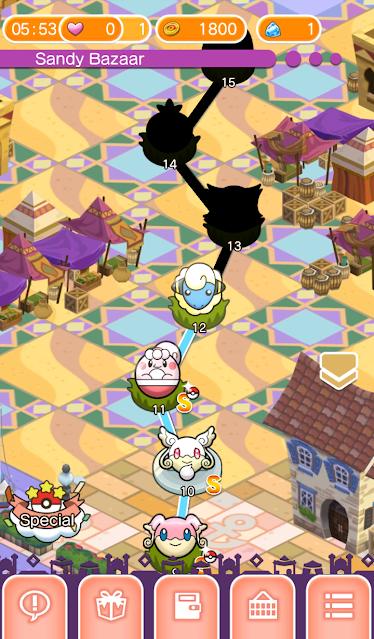 Pokémon Shuffle Stages