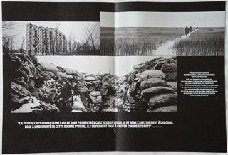 2 pages du reportage sur la guerre du Donbass d'Édouard Elias dans VSD.