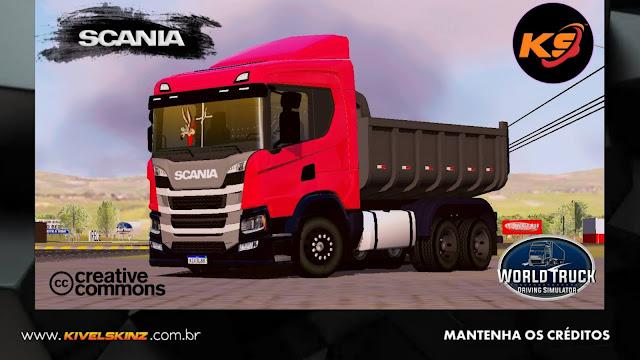 SCANIA P320 CAÇAMBA - VERMELHO TOP