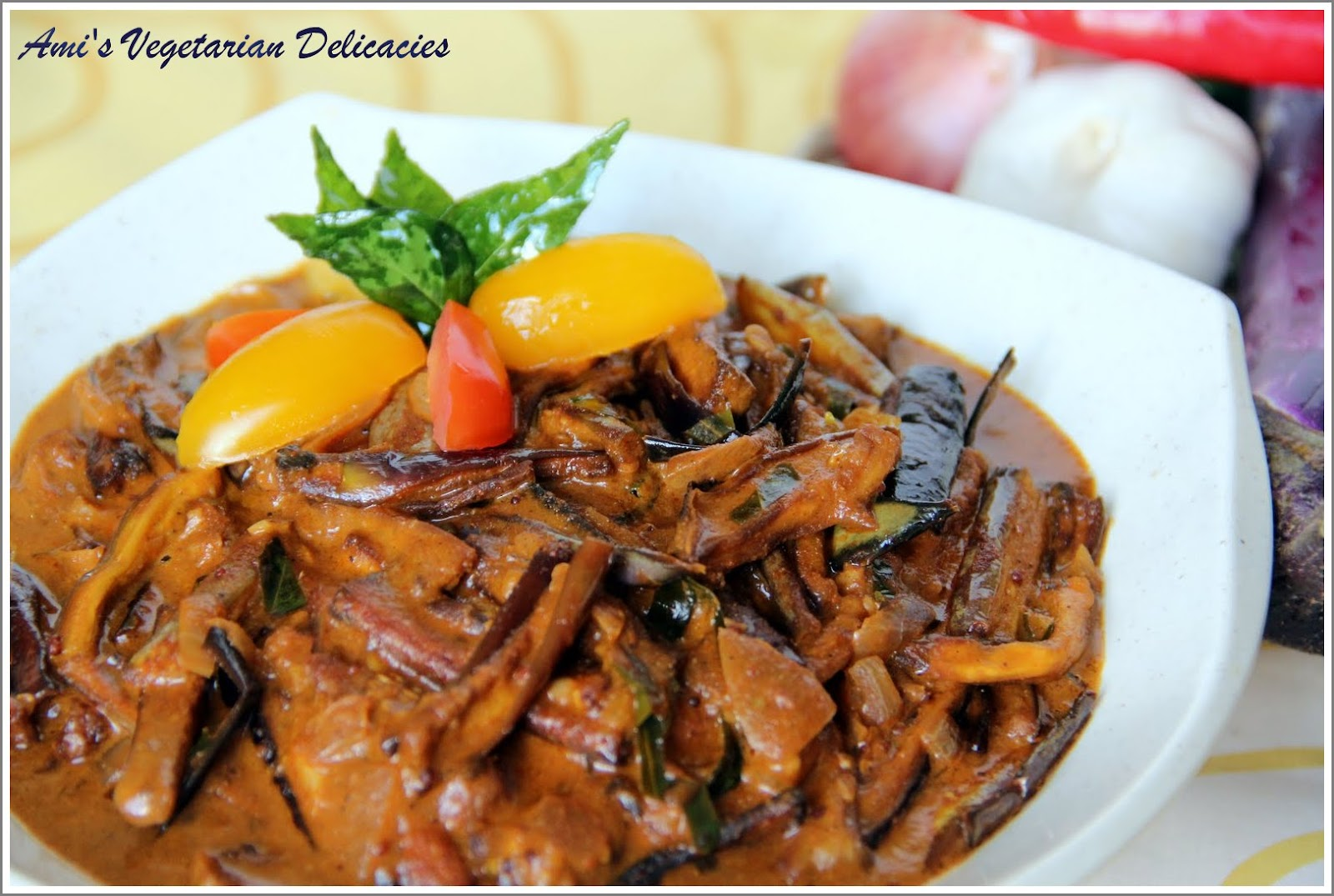 Ami's Vegetarian Delicacies: Eggplant Curry (Roasted ...