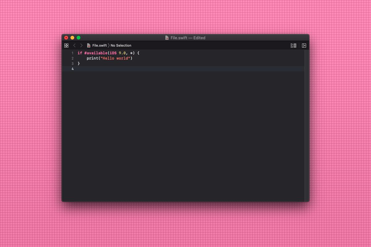 Come scrivere una condizione compatibile solo con iOS 9 in Swift