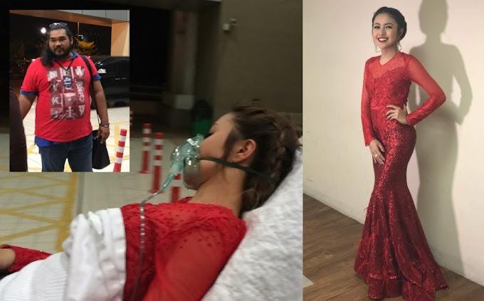 Gaun merah Baby Shima kena gunting sebab terlalu ketat sampai sesak nafas?