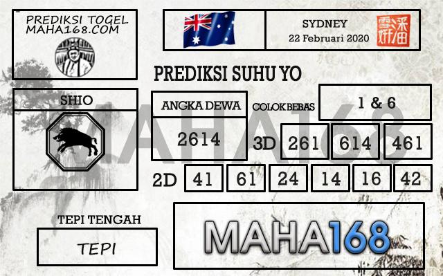 Prediksi Togel JP Sidney 22 Februari 2020 - Prediksi Suhu Yo