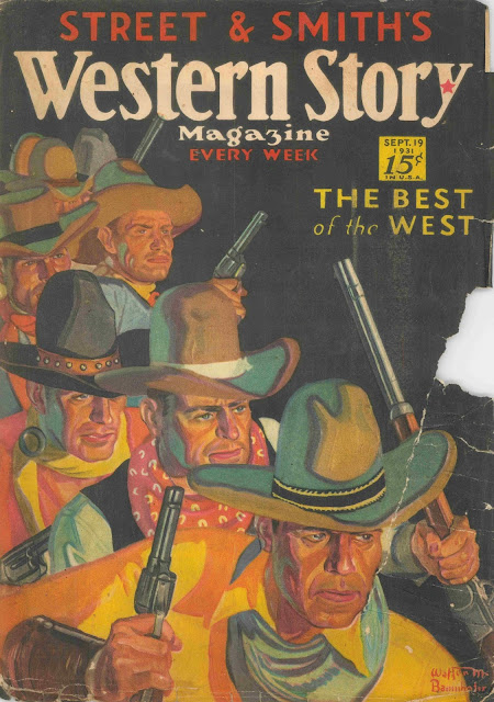 Western Story, September 19, 1931 cover by Walter M. Baumhofer