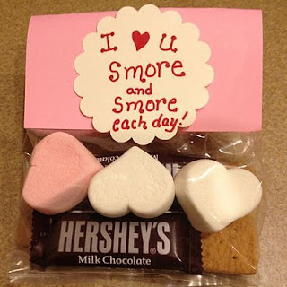 "Valentine gift baggie ""SMORES"""
