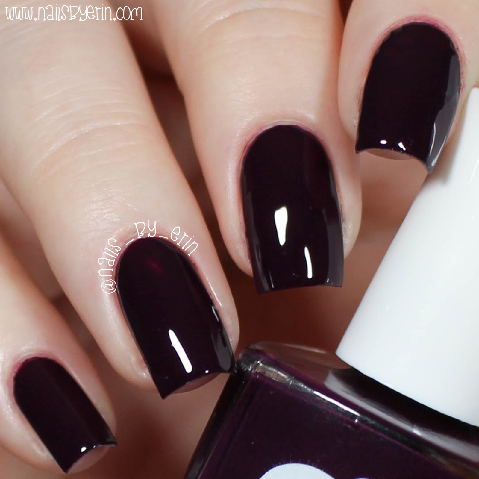 Nailsbyerin Ella Mila Little Plum Dress Swatch And Review