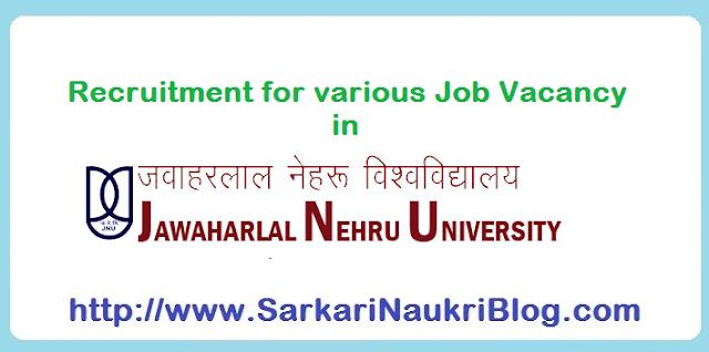 Sarkari Naukri Vacancy Recruitment in JNU Delhi