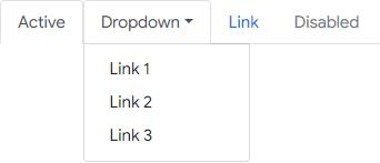 Membuat Navigasi Tab dengan Dropdown di Bootstrap 4