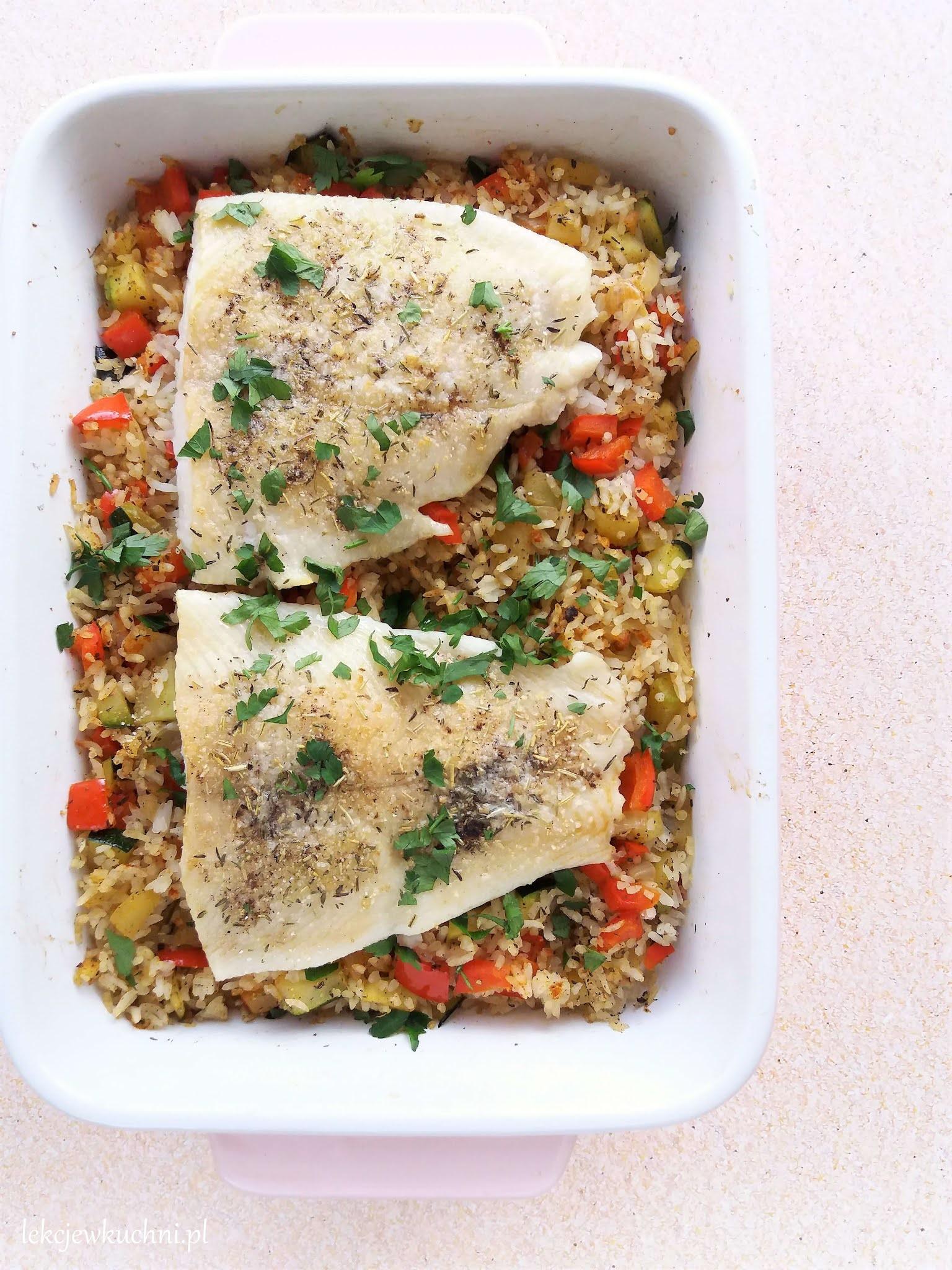 Ryba Z Piekarnika Z Warzywami I Ryżem Baked Fish With Rice And Vegetables Lekcje W Kuchni