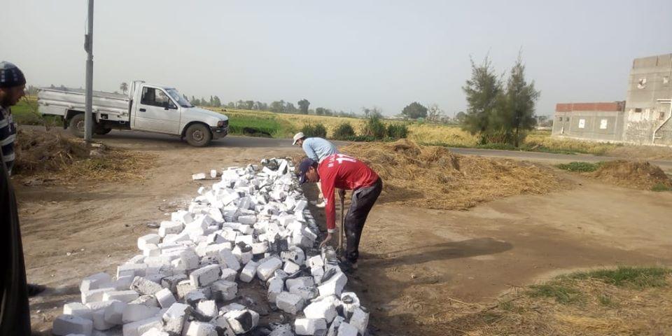 ازالة تعديات على الاراضى الزراعيه بمساحة ١٢٠ متر بنديبه