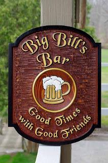 placa para bares