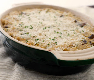 Baked rice with vegetables ingredients and directions on how to cook rice in the oven.