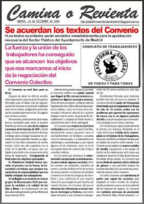 COMUNICADO DEL DÍA 19 DE DICIEMBRE