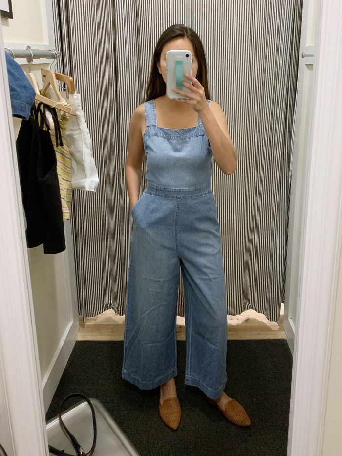 womens denim jumpsuit