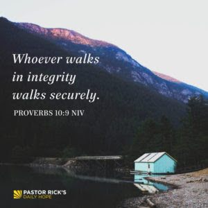 Walk Securely in Wisdom by Rick Warren