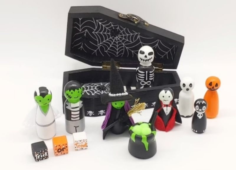 crazy for dolls halloween peg dolls