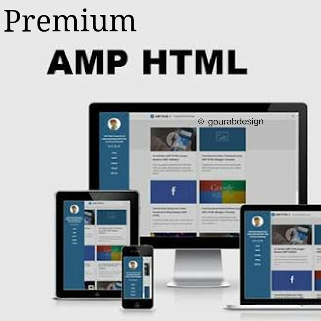 Amp html premium version blogger template