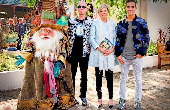 Dutch Princess Laurentien attended a reading session at tema park De Efteling in Kaatsheuvel