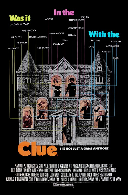 Obviously This Movie Is Based On The Famous Original Parker  Brothers/Waddingtons Board Game Which Is In Fact Called Cluedo, A Play On  The Words Ludo (Latin ...