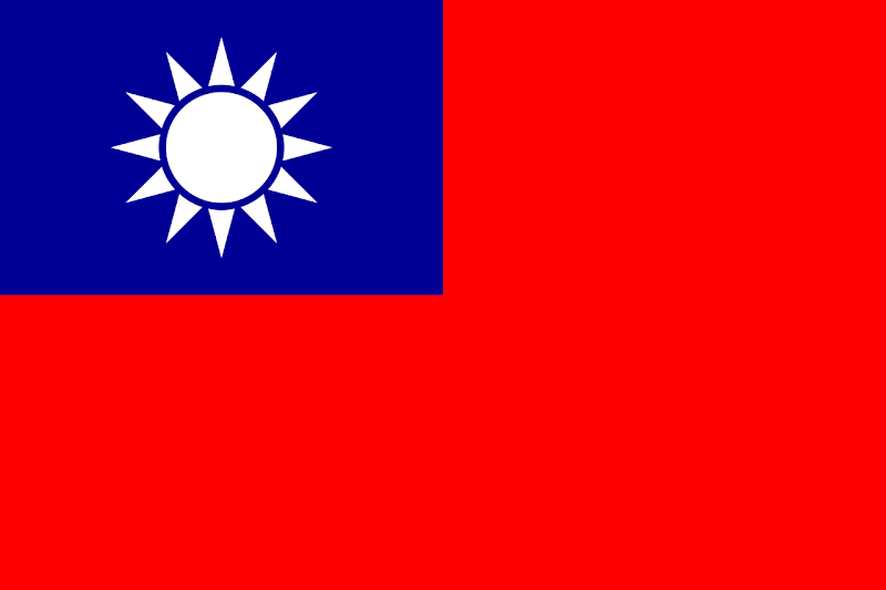 Logo Gambar Bendera Negara Republik Tiongkok PNG JPG ukuran 800 px