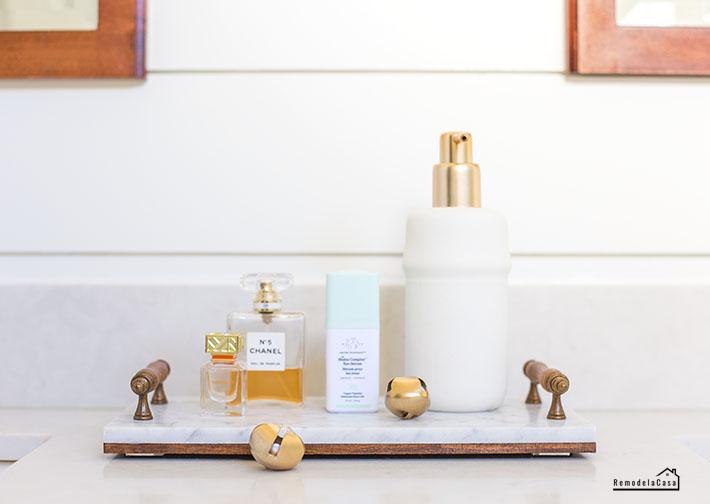 diy  bathroom marble tray