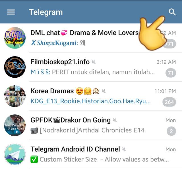 Cara Nonton Drakor di Aplikasi Telegram