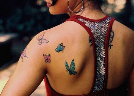 Foto Tattoo Design Butterfly Kupu Di Tubuh Wanita 31