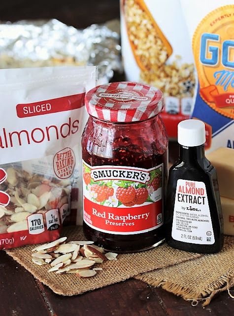 Raspberry-Almond Bar Ingredients Image