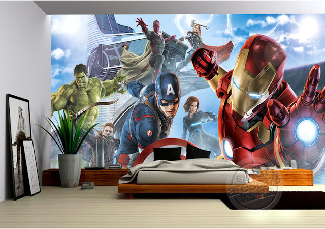 Superhero Wall Murals Avengers Ironman Marvel