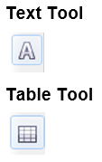 text tool tabel tool