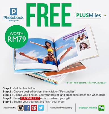 PLUSMiles Free Photobook Malaysia