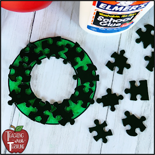 Puzzle Piece Wreath Ornament