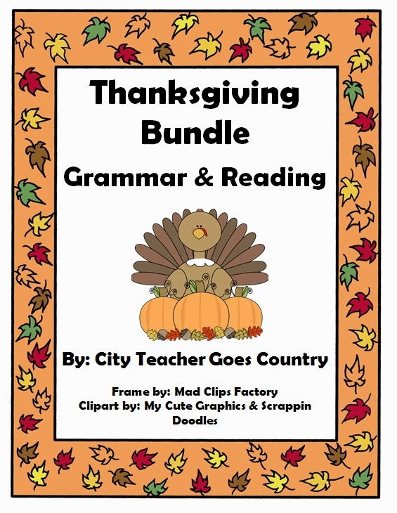 City Teacher Goes Country Thanksgiving Bundles
