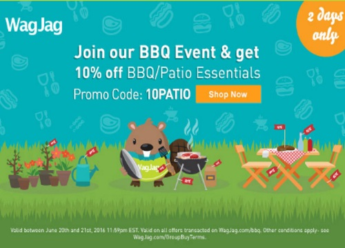 Wagjag BBQ Sale Extra 10% Off Promo Code