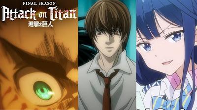Masamune-kun's Revenge - Episódio 1 - Death Note (Dublado)  Episódio 2 - Attack on Titan Final Season  Episódio 69