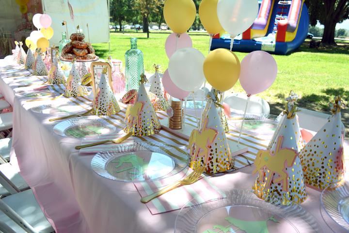 Rachel J Special Events Carousel Birthday Party