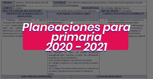 Planeaciones primaria gratis para descargar 2020 - 2021 🥇