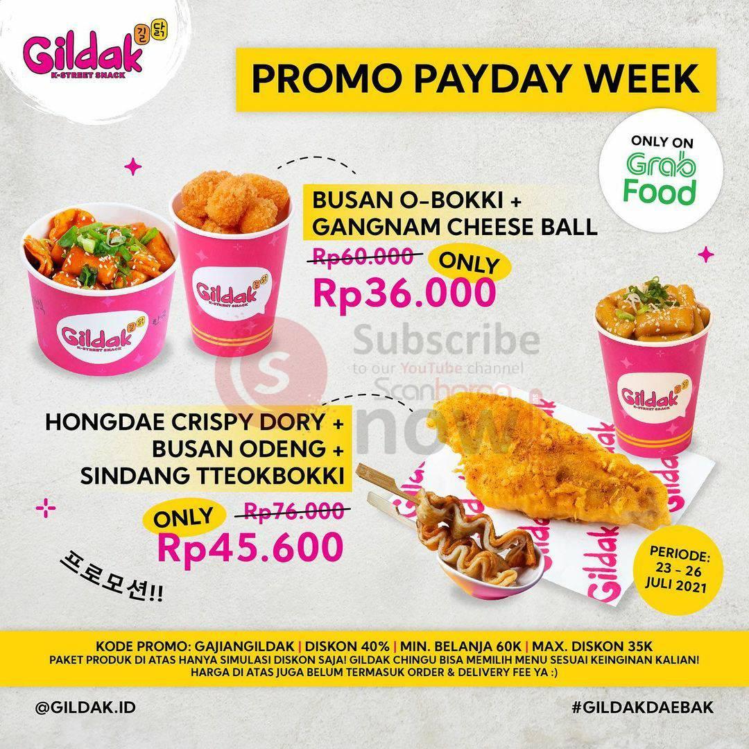 Promo GILDAK PaydayWeek Diskon hingga 40% via Grabfood