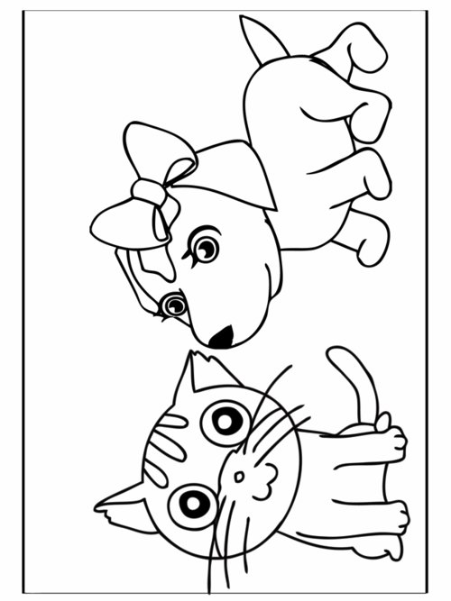 Dog And Cat Coloring Pages For Kids >> Disney Coloring Pages
